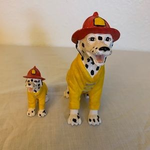 Little set of Dalmatian fire fighters